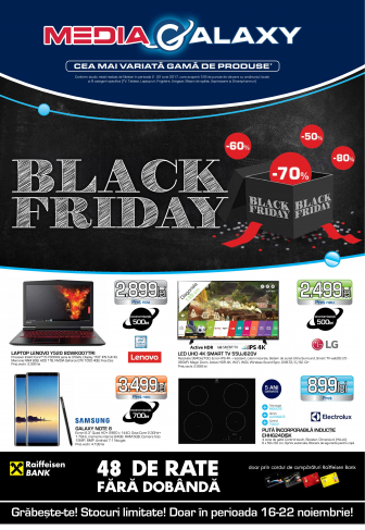 Catalog MEDIA GALAXY  Black Friday 16 – 22 Noiembrie 2017