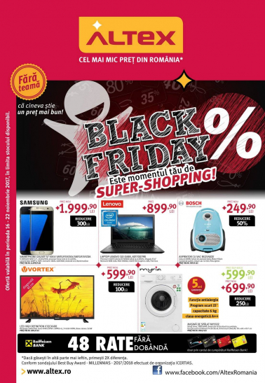 Catalog ALTEX Black Friday 2017, 16 – 22 Noiembrie 2017